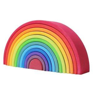 Arc-en ciel bois Montessori multicolore